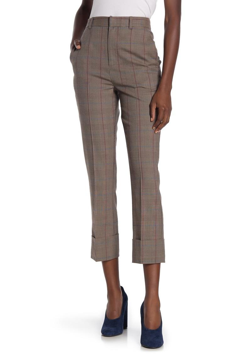 FRAME Cuffed Plaid Pants