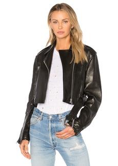 FRAME Denim Crop Moto Jacket