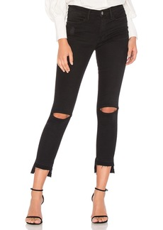 FRAME Denim Le High Skinny Cutout
