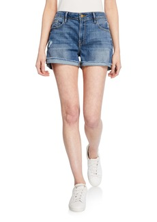FRAME Distressed Cutoff Denim