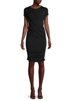 FRAME Draped Muscle T-Shirt Dress