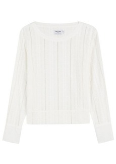 FRAME Embroidered Cotton Top