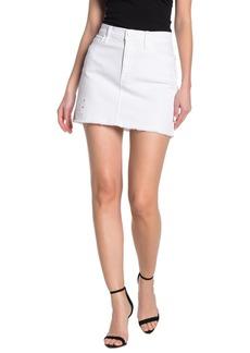 FRAME Embroidered Mini Skirt