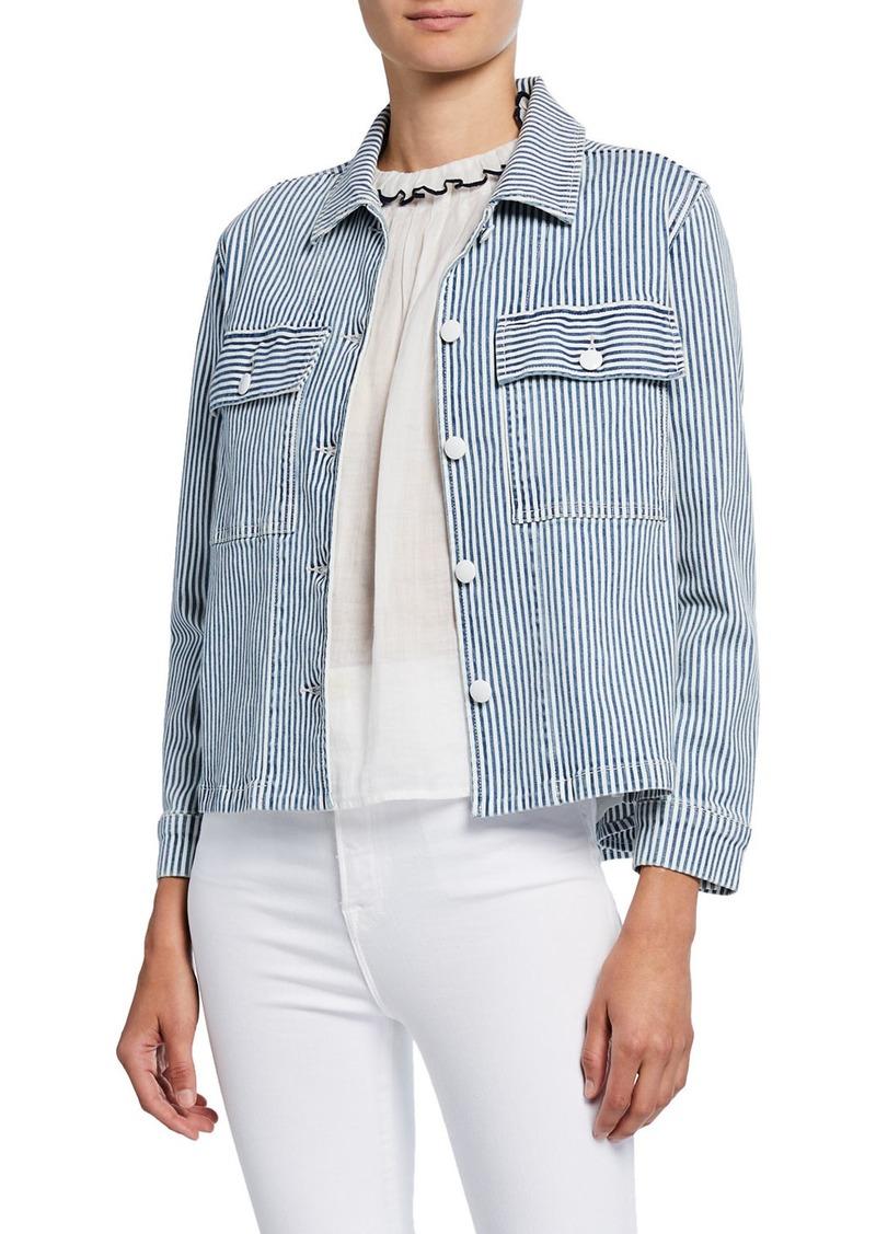 FRAME Engineer Striped Shirt Jacket