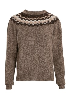 FRAME Fair Isle Crewneck Sweater