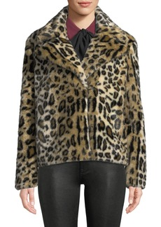 FRAME Faux-Fur Cheetah-Print Jacket