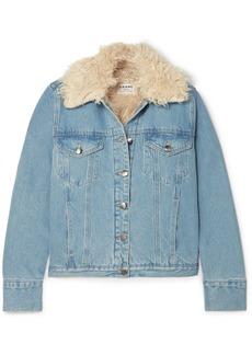 FRAME Faux Shearling-lined Denim Jacket