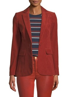 FRAME Fine Variegated One-Button Blazer Jacket