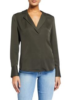 FRAME Fitted Notch-Collar Shirt