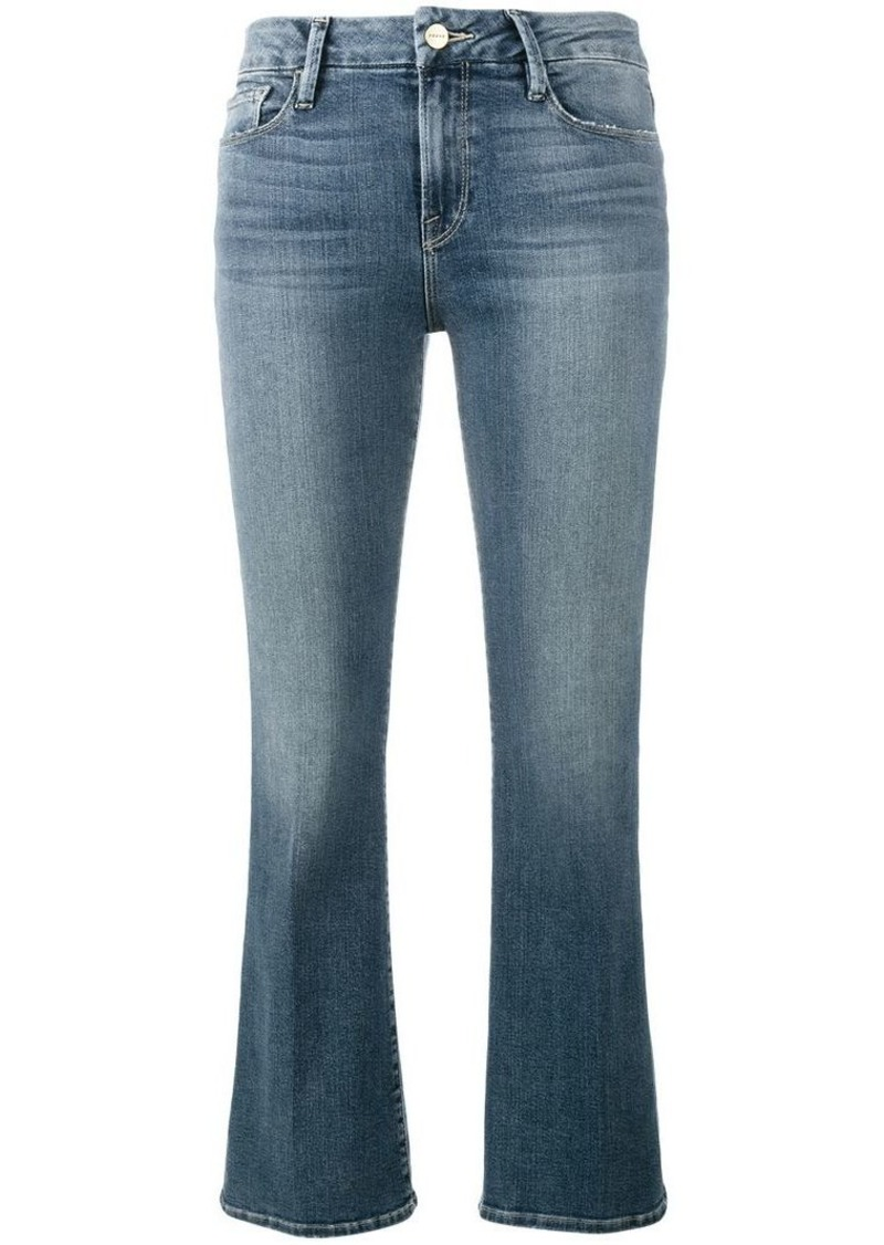 FRAME flared cropped jeans