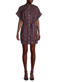 FRAME Floral Button-Front Dress