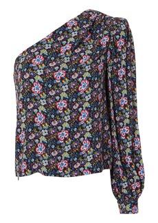 FRAME Floral One Shoulder Top