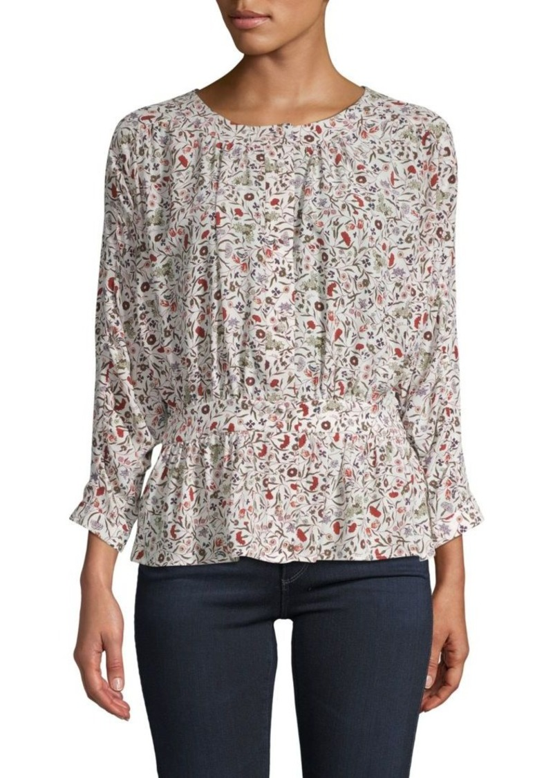 FRAME Floral Silk Top