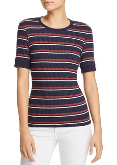 FRAME '70s Striped Rib-Knit Tee
