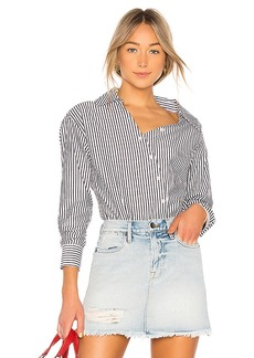 FRAME A Slant Button Up Top