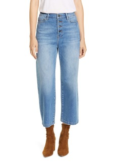 FRAME Ali Button Fly Crop Wide Leg Jeans (Yorkshire)