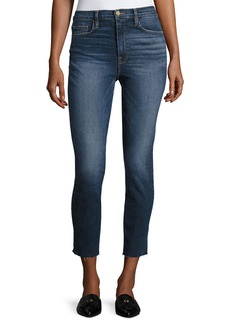 FRAME Ali High-Rise Skinny Cigarette Cropped Jeans