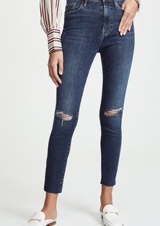 FRAME Ali High Rise Skinny Cigarette Raw Jeans
