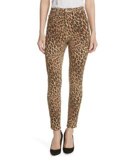 FRAME Ali High Waist Cigarette Skinny Jeans (Camel Multi)