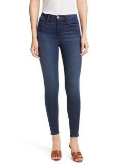 FRAME Ali High Waist Skinny Cigarette Jeans (Holzman)
