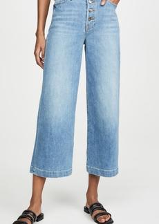 FRAME Ali Wide Crop Jeans