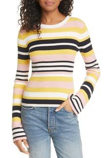 FRAME Baja Stripe Cotton & Cashmere Sweater