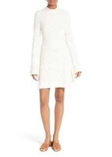 FRAME Bell Sleeve Stripe Sweater Dress