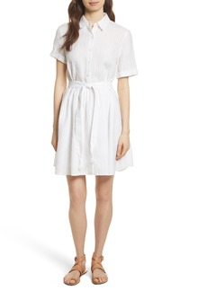 FRAME Belted Linen Dress