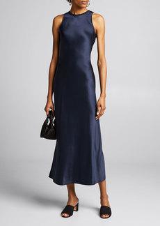 FRAME Bias-Cut Silk Midi Dress