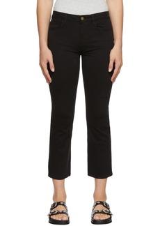 Frame Black 'Le Crop Mini Boot' Jeans