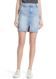FRAME Body-Con Denim Miniskirt
