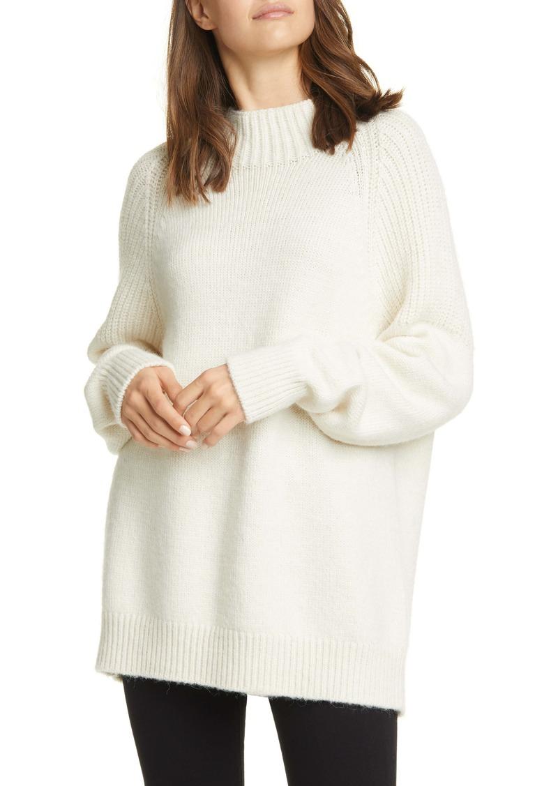 FRAME Boxy Mixed Stitch Sweater