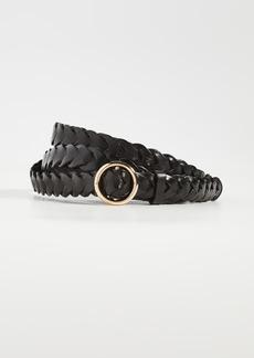 FRAME Braided Petit O Ring Double Wrap Belt