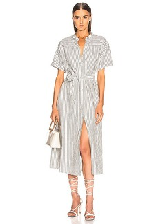 FRAME Button Up Wrap Dress