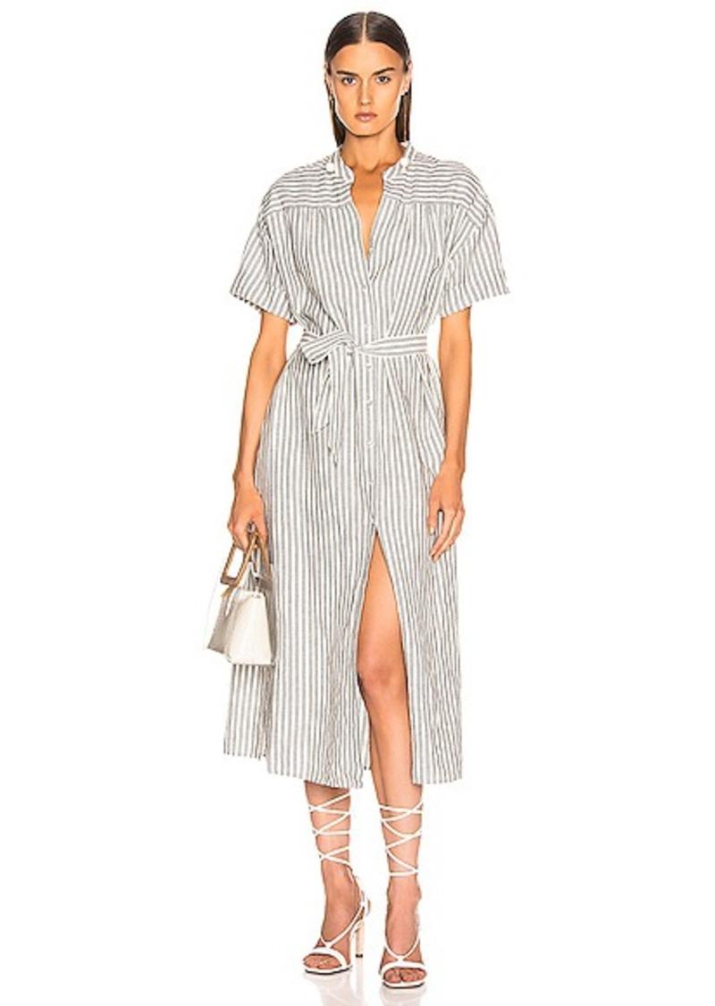 FRAME Button Up Wrap Dress