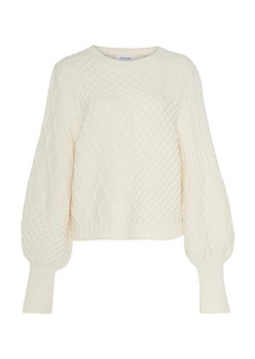 FRAME Cable-Knit Sweater