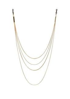 Frame Chain Ain't So Plain Jane 18kt gold-plated glasses chain