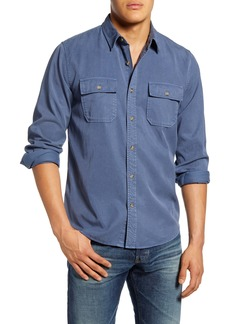 FRAME Classic Fit Double Pocket Button-Up Shirt