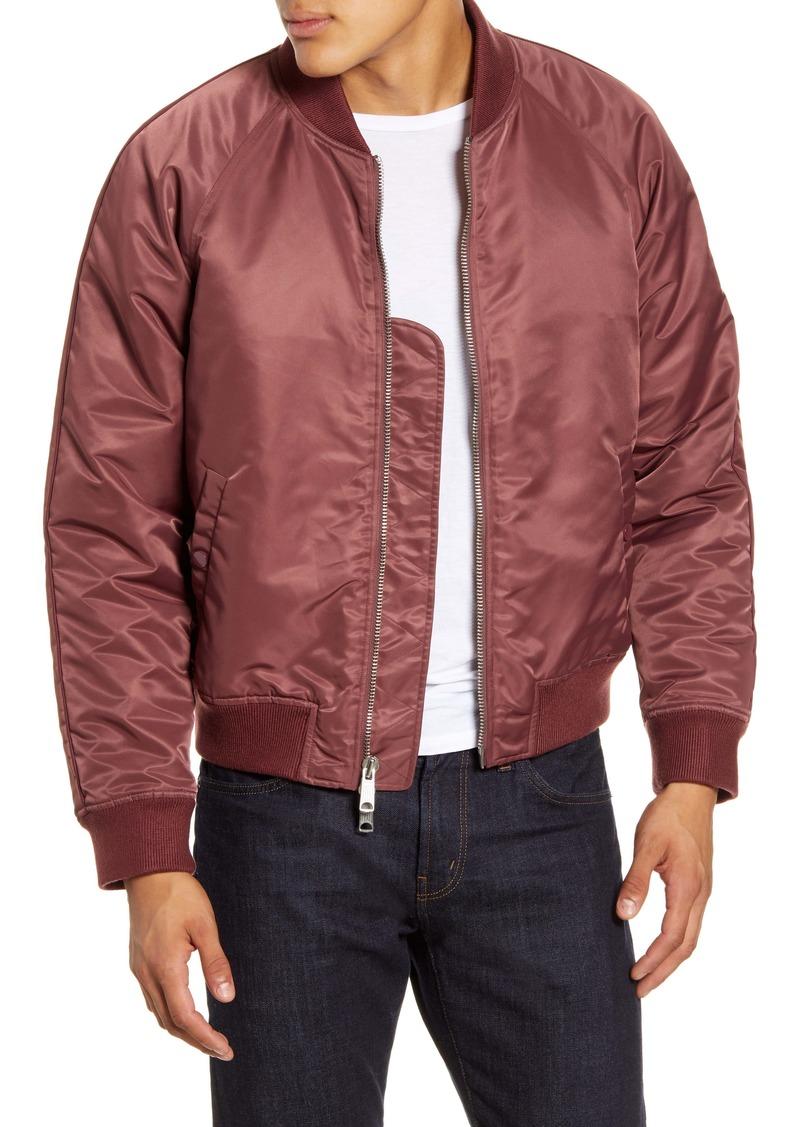 FRAME Classic Nylon Bomber Jacket