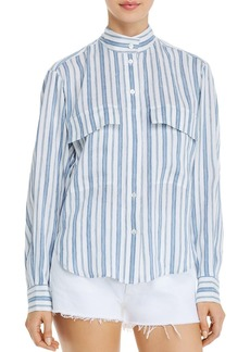 FRAME Clean Striped Shirt