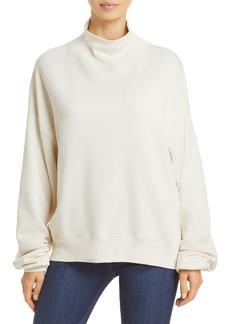 FRAME Cotton Funnel Neck Sweatshirt