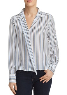 FRAME Cravat Striped Silk Top - 100% Exclusive