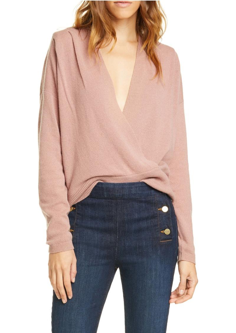 FRAME Criss Cross Cashmere Sweater