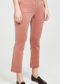 FRAME Cropped Perfect Velvet Trousers