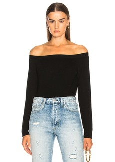FRAME Cropped Rib Sweater