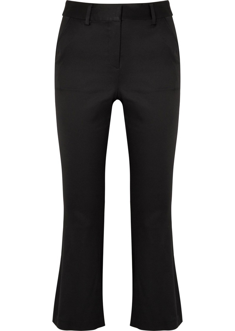 Cropped Satin Flared Pants - Black Frame Denim W1GTz