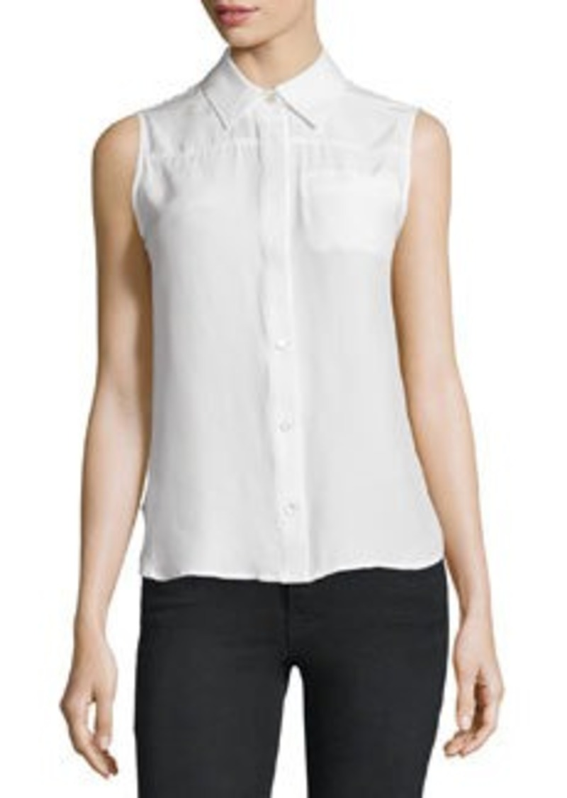 FRAME Sleeveless Button-Front Top