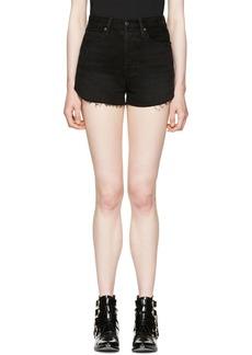 Frame Denim Black Le Original Tulip Shorts