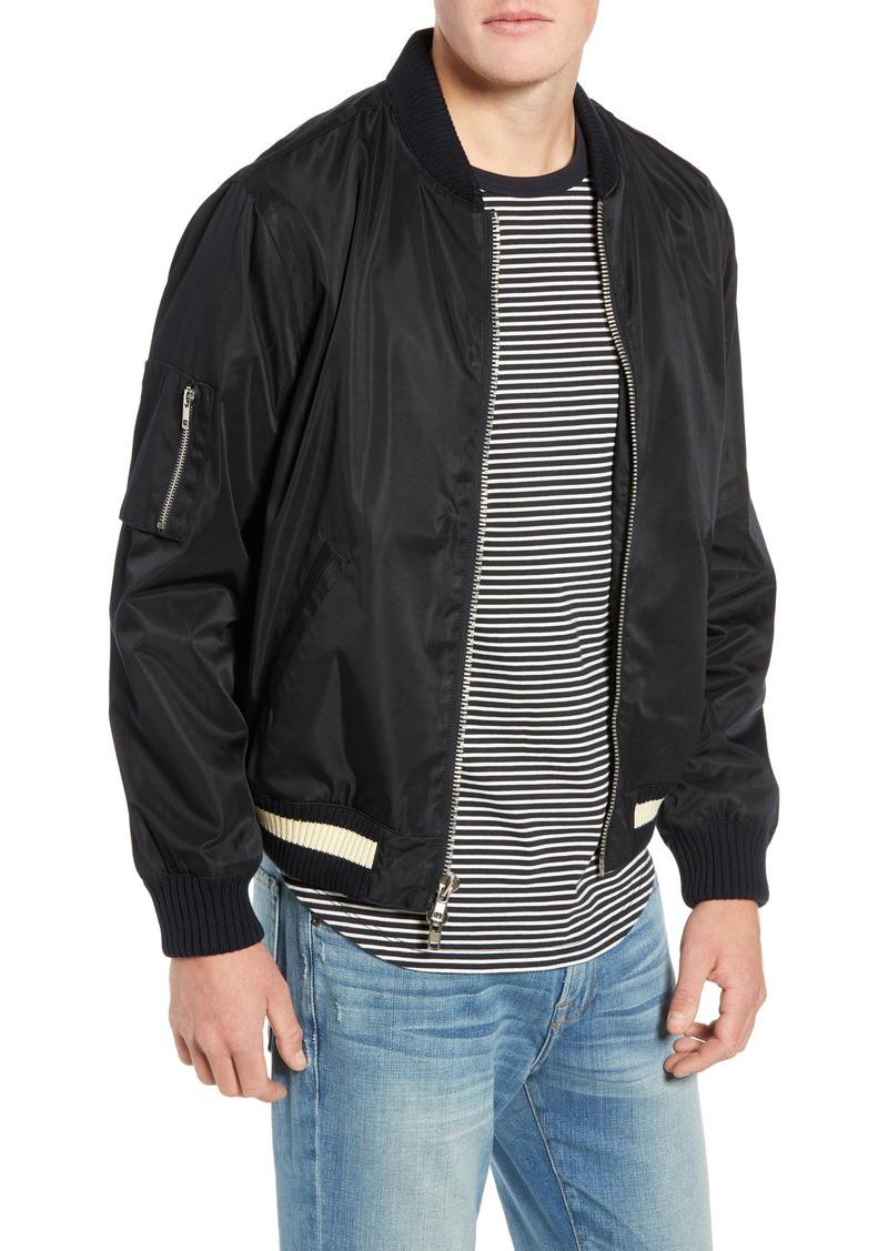 FRAME Denim Classic Nylon Bomber Jacket
