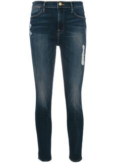 Frame Denim cropped flared jeans - Blue
